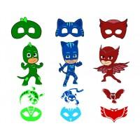 Герои в масках из фетра, выкройка