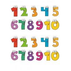 Цифры 0-9. Печать на фетре