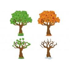 "Фетр с рисунком ""4 сезона дерево 3"""