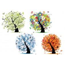 "Фетр с рисунком ""4 сезона дерево 4"""