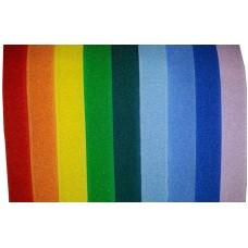 Липучка (велкро) 25 мм, набор радуга, 9 лент