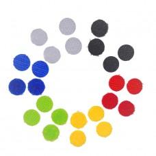 Липучка круглая цветная. 10 мм, набор 12 шт