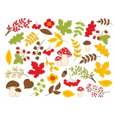 """Фетр с рисунком """"Осень сет"""""""