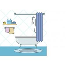 "Фетр с рисунком ""Ванная комната"""
