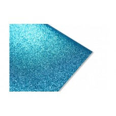 Блестящий фетр, цвет синий