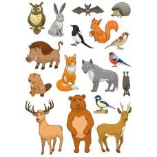 """Фетр с рисунком """"Лесные животные"""""""