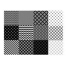 """Печать на фетре """"Геометрия черно- белая"""""""