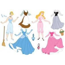 """Фетр с рисунком """"Одежда принцесс"""""""