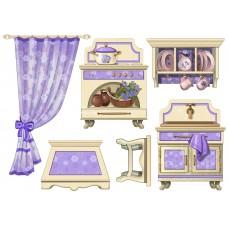 """Фетр с рисунком """"Кухонная мебель"""""""