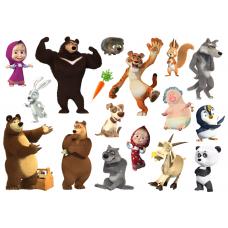 """Сказки из фетра """"Маша и медведь (мультсериал)"""", фетр с рисунком"""