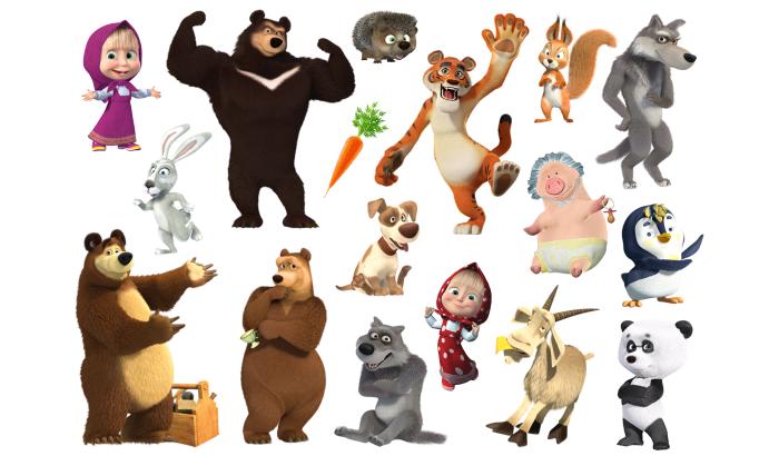 Сказки из фетра Маша и медведь мультик