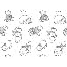 """Печать на фетре """"Полярные мишки"""""""