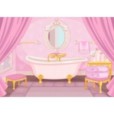 "Фетр с рисунком ""Ванная комната """