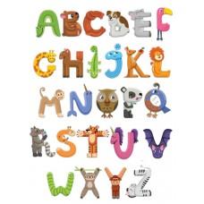 Английский алфавит из фетра