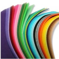 Жесткий корейский фетр 1,2 мм. набор 33 цвета. 15*20 см