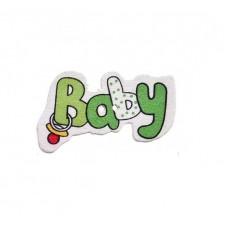 """Деревянная пуговица """"Baby"""""""
