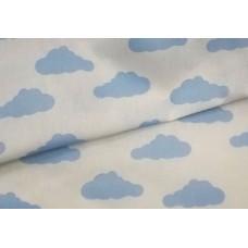 """Ткань натуральный хлопок """"Голубые облака"""""""