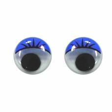 Глазки пластмассовые пара, синие