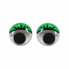 Глазки пластмассовые пара, зеленые