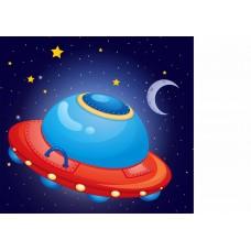 Страничка космическая тарелка (Печать на ткани)