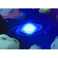 Космос кометы (Печать на ткани)