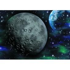 Космос кратеры луны (Печать на ткани)