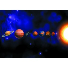 Космос парад планет (Печать на ткани)
