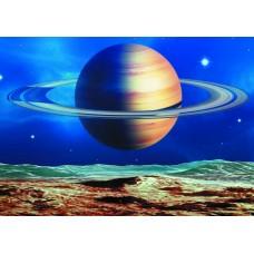 Космос Сатурн (Печать на ткани)