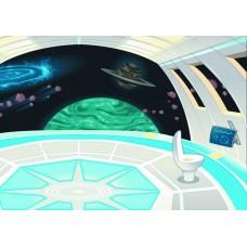 Космос внутри корабля (Печать на ткани)