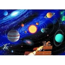Солнечная система мкс (Печать на ткани)