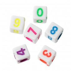 """Бусины квадратные """"Цифры 0-9"""", 10 шт."""