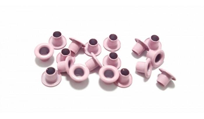 Люверсы цветные, 1 шт. Пастелно-розовые