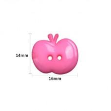 Яблоко акриловая пуговица, набор 5 шт
