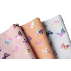 "Набор фетра с голографическим рисунком ""Бабочки"""