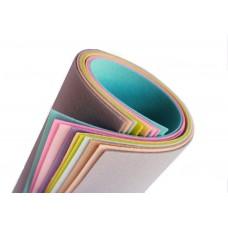Жесткий корейский фетр 1,2 мм. набор 10 пастельных цветов. 15*20 см