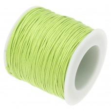 Шнур вощеный светло желто-зеленый 1 метр