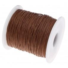Шнур вощеный коричневый 1 метр