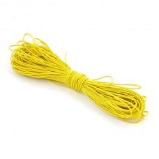Шнур вощеный желтый 1 метр