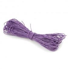Шнур вощеный фиолетовый 1 метр