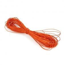 Шнур вощеный оранжевый 1 метр