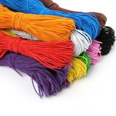 Шнур -резинка 1 мм, набор 12 цветов