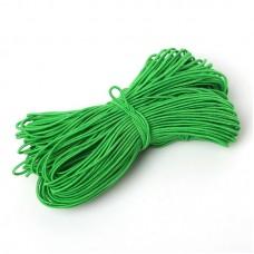 Эластичная резинка 1 мм, зеленая, 1 метр