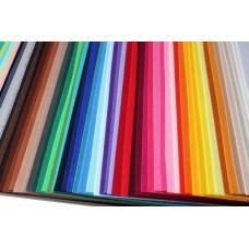 Корейский жесткий фетр 1,2 мм. набор 62 цвета. 18*22 см