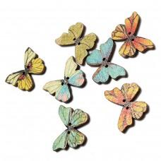 "Набор деревянных пуговиц ""Бабочки"", 10 шт."