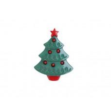 Новогодняя елочка, акриловая пуговица, 1 шт