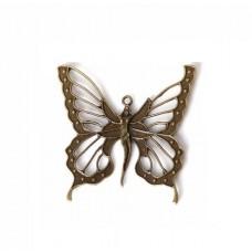 Бабочки металлические, набор 10 шт.