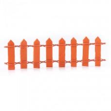 Оранжевый деревянный заборчик мини