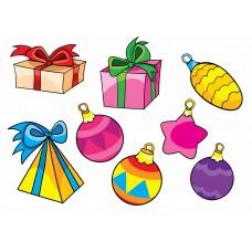Подарки и украшения (Печать на ткани)