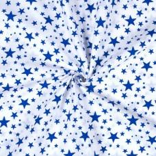 """Ткань натуральный хлопок """"Синие звезды"""""""