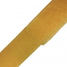 Липучка (велкро) темно-желтая 25 мм , 1 метр